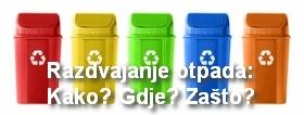 Razdvajanje otpada: Zašto? Kako? Gdje?