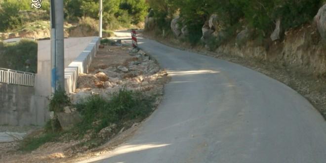 Put starog sela - potporni zid